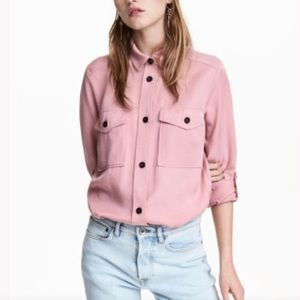 Tops - Lyocell Utility Shirt Pink Button Down